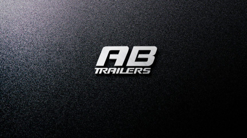 AB Trailers Metal Logo stacked